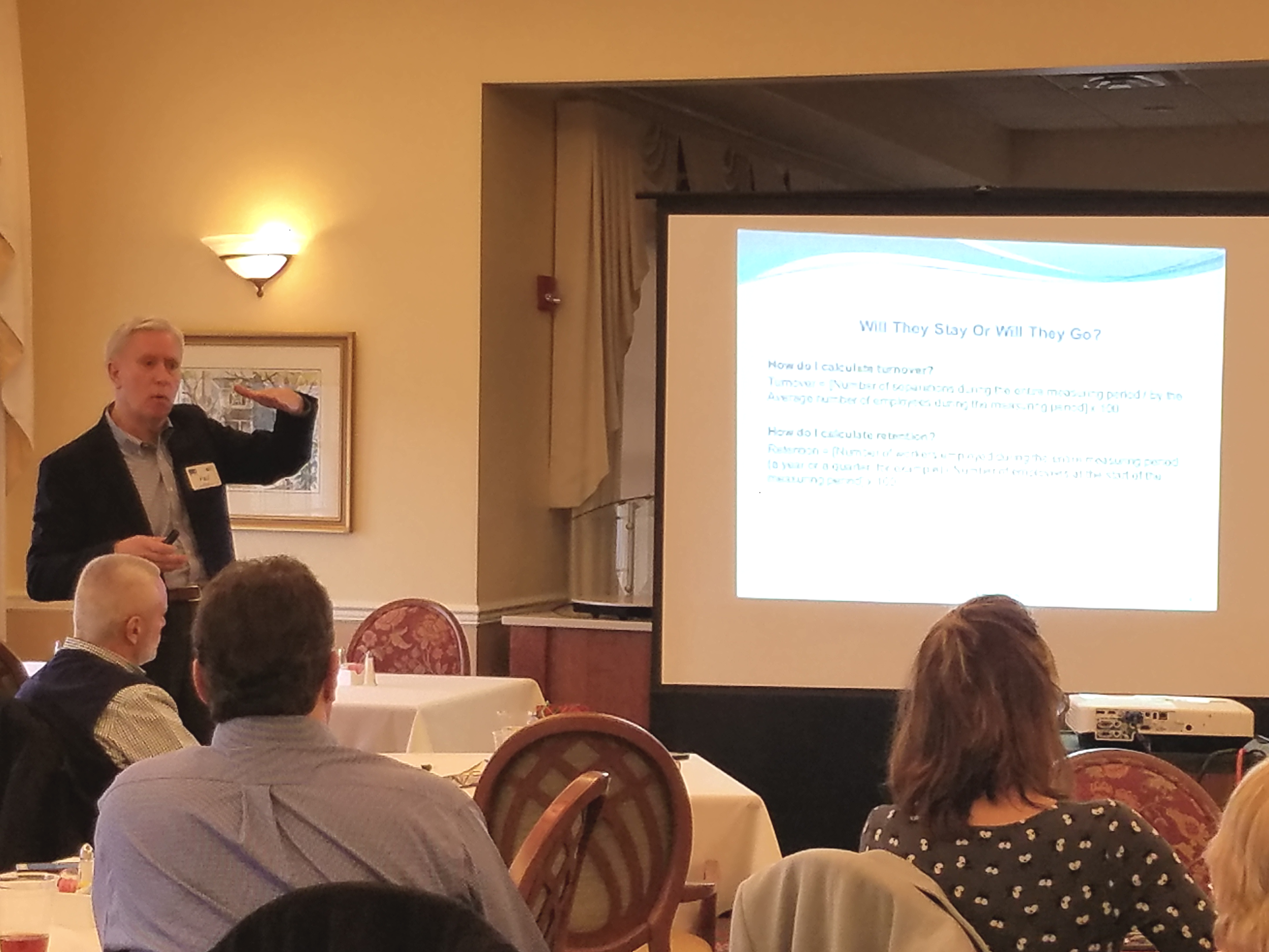 Paul facilitating  Essential Elements of Employee Retention  for the Lynchburg Regional Society for Human Resource Management (LRSHRM), 01.10.18