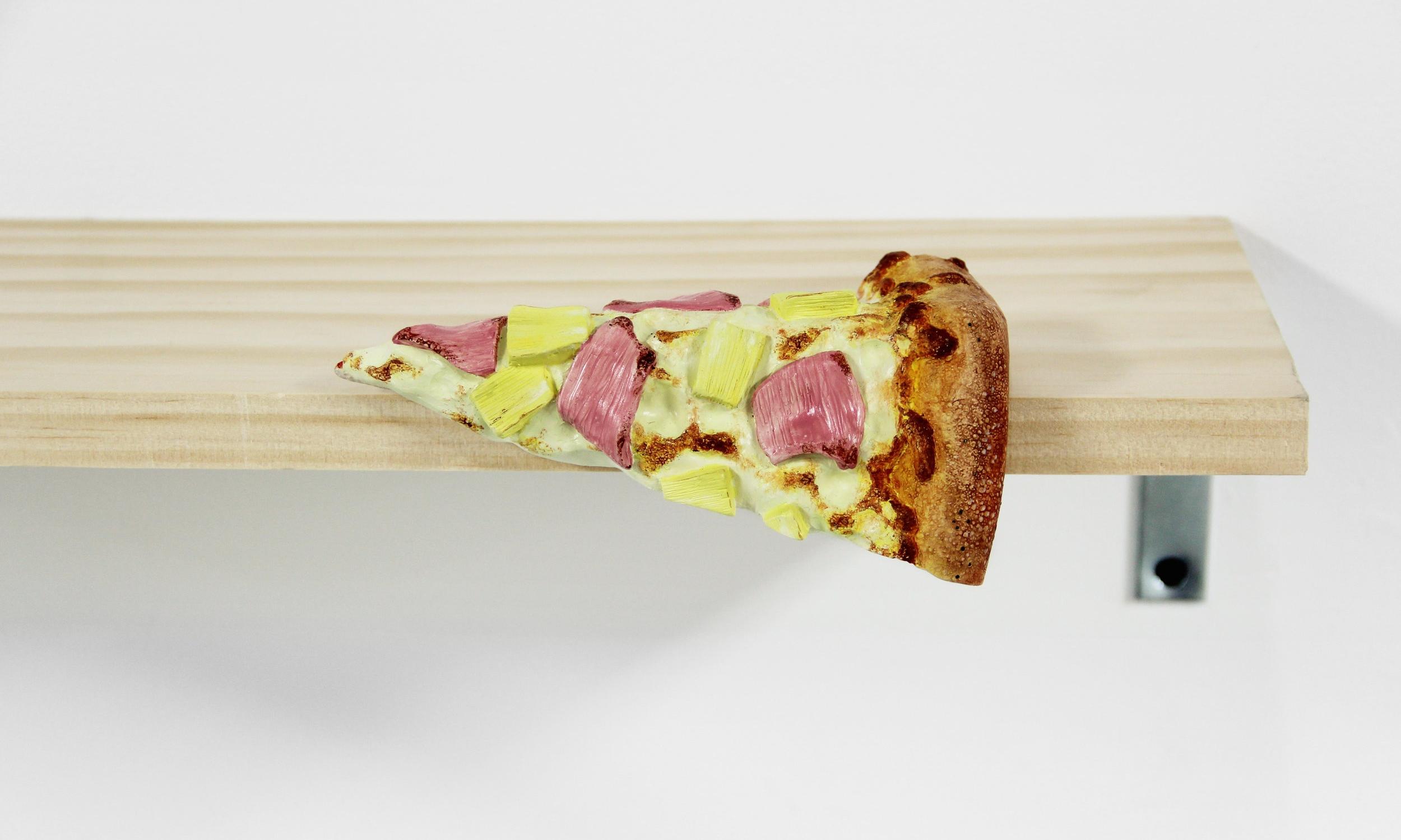 Bent Dominoes Hawaiian Pizza Slice