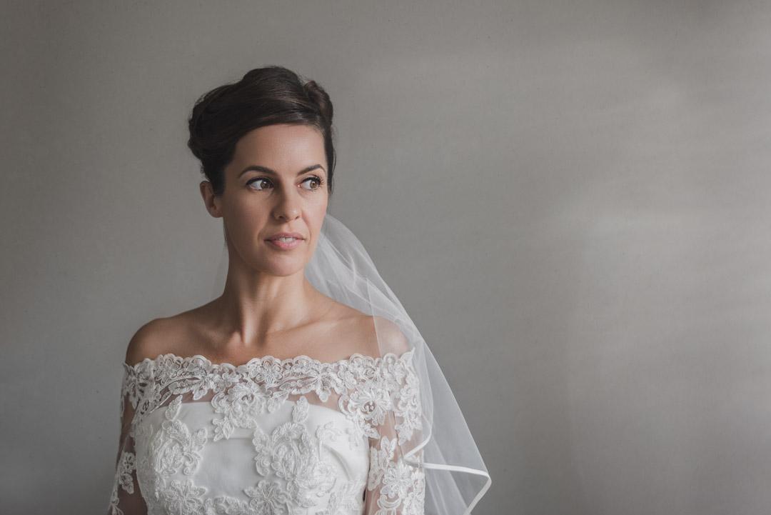 The Crazy Bear Wedding Bridal Portrait