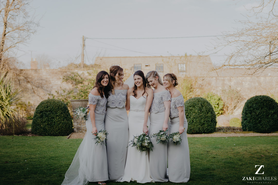The Bay Tree Hotel Bridesmaids in the gardens