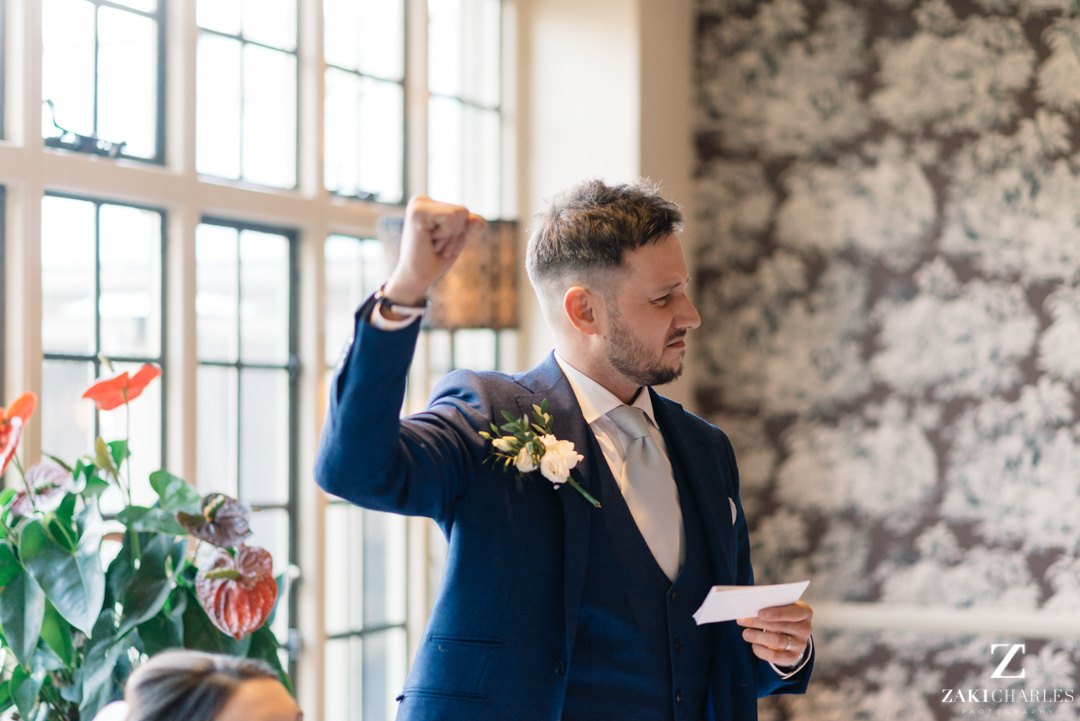 The Bay Tree Hotel groom celebrating