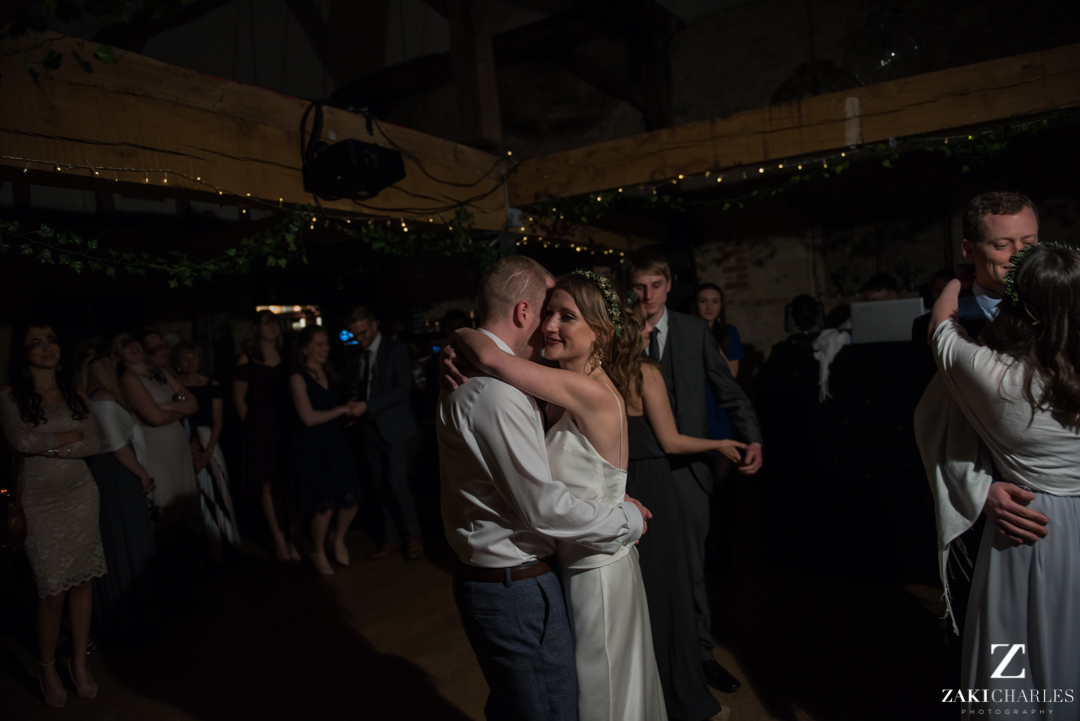 First dance at the crown and thistle wedding venue