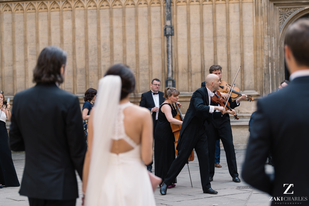 Sidbowfin performing at The Bodleian Library