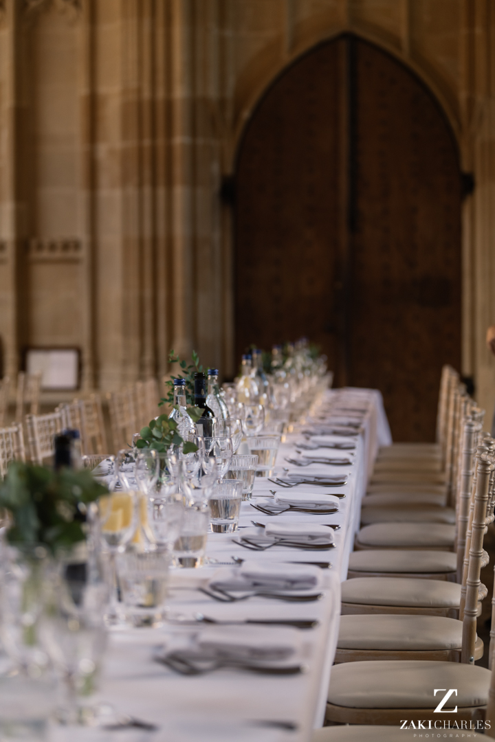 Table layout at The Bodleian Library