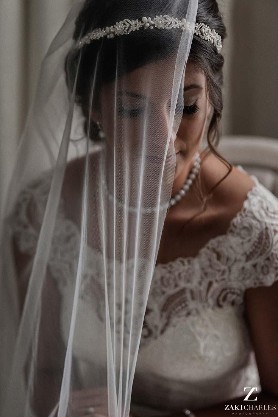 Natural light portrait of bride Edi at Hedsor House
