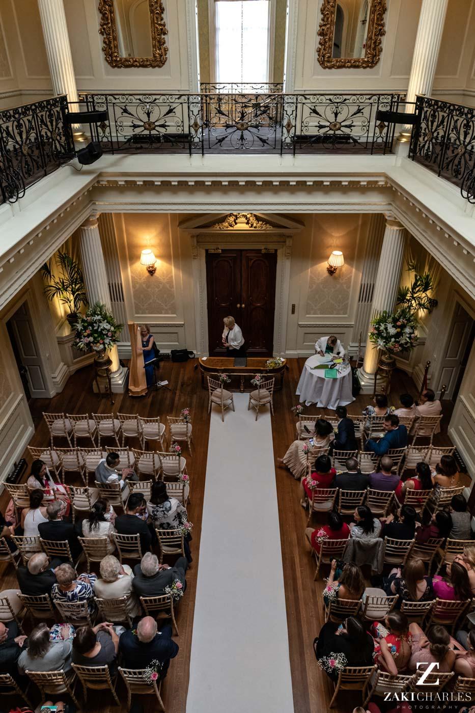 Hedsor House wedding ceremony room photo
