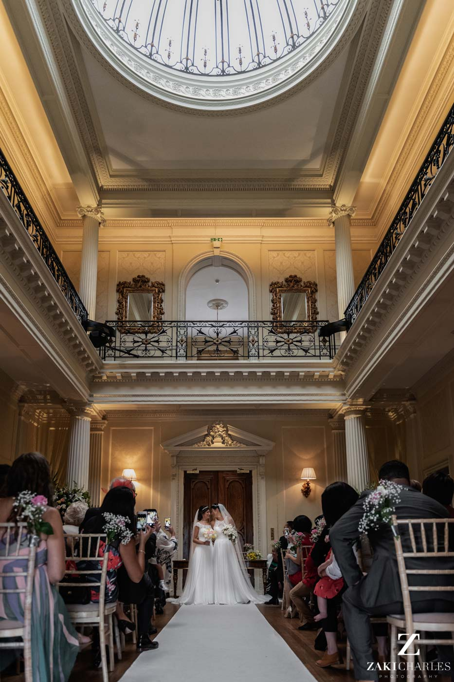 Ceremony photo at Hedsor House