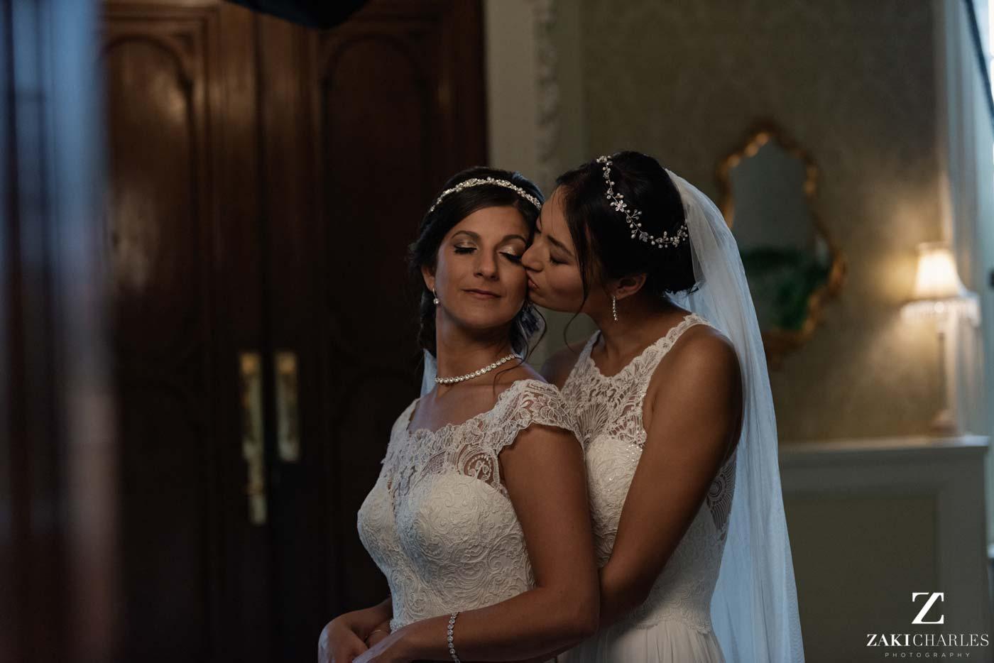 Same sex wedding at Hedsor House