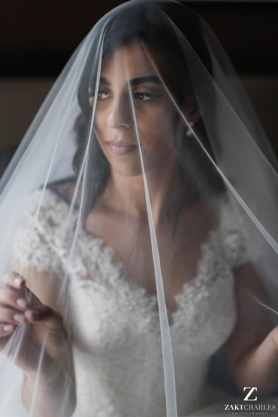 Natural light portrait of the bride at Marriott Hotel Regents Park 3