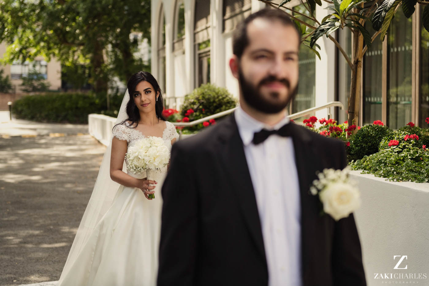 first look wedding photography at Marriott Hotel Regents Park 2