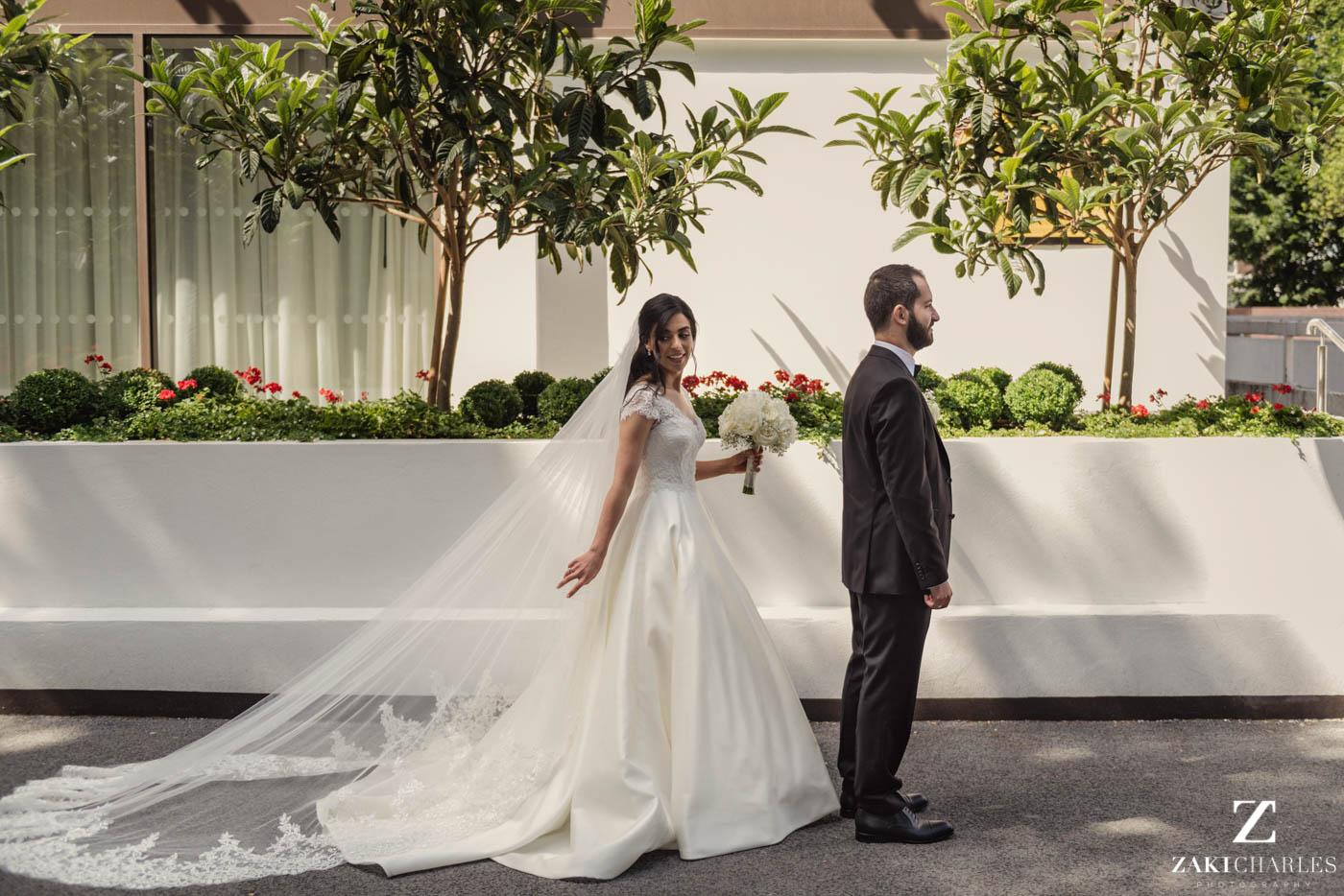 first look wedding photography at Marriott Hotel Regents Park 4