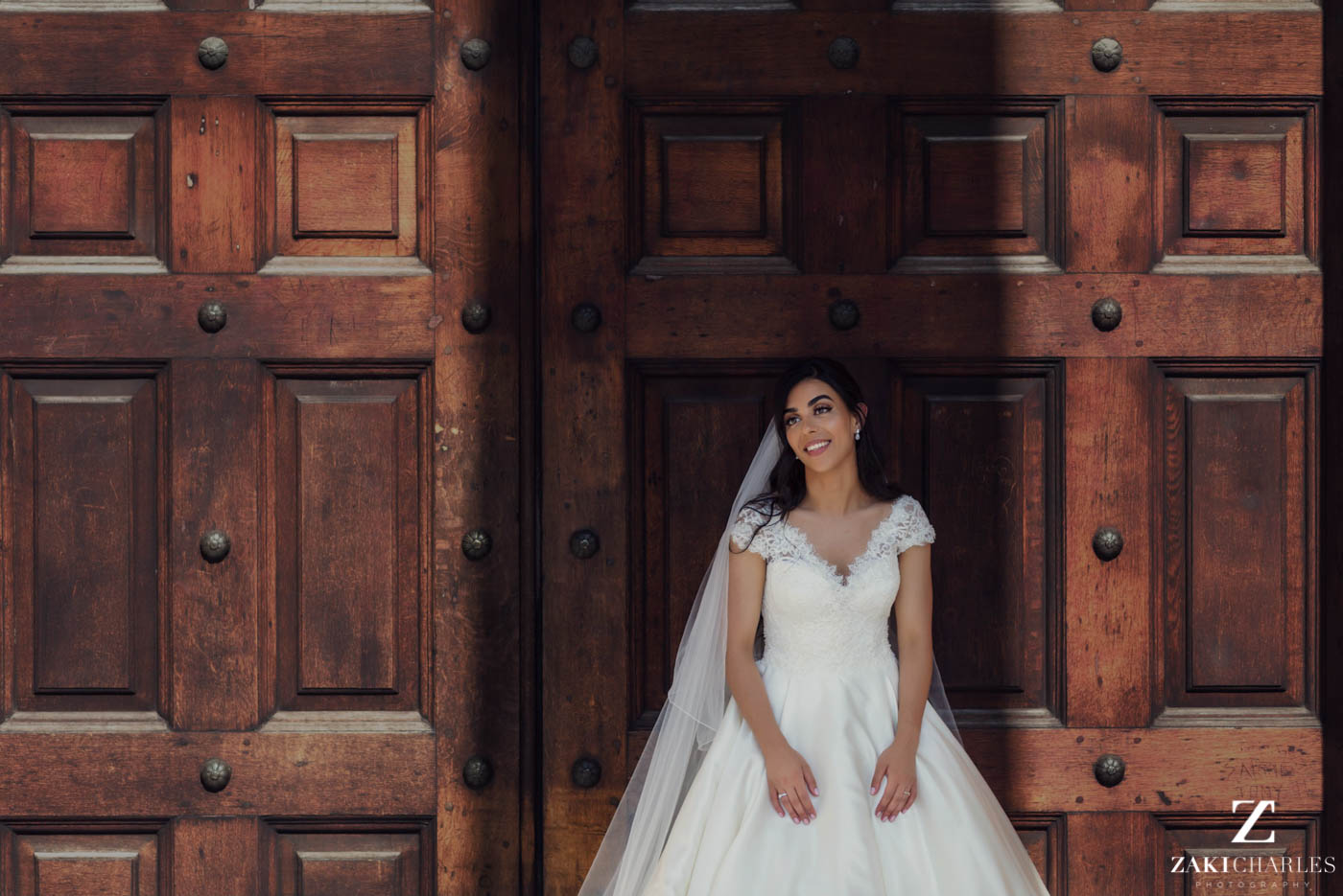 Natural light wedding photography of the bride