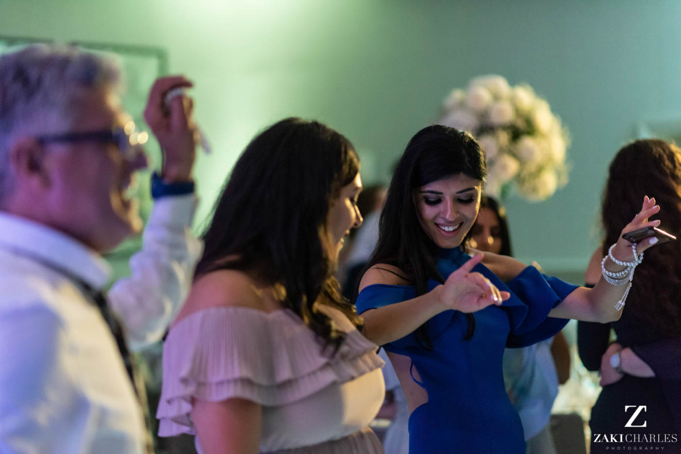 Guests dancing at Marriott Hotel Regents Park Wedding Venue 4
