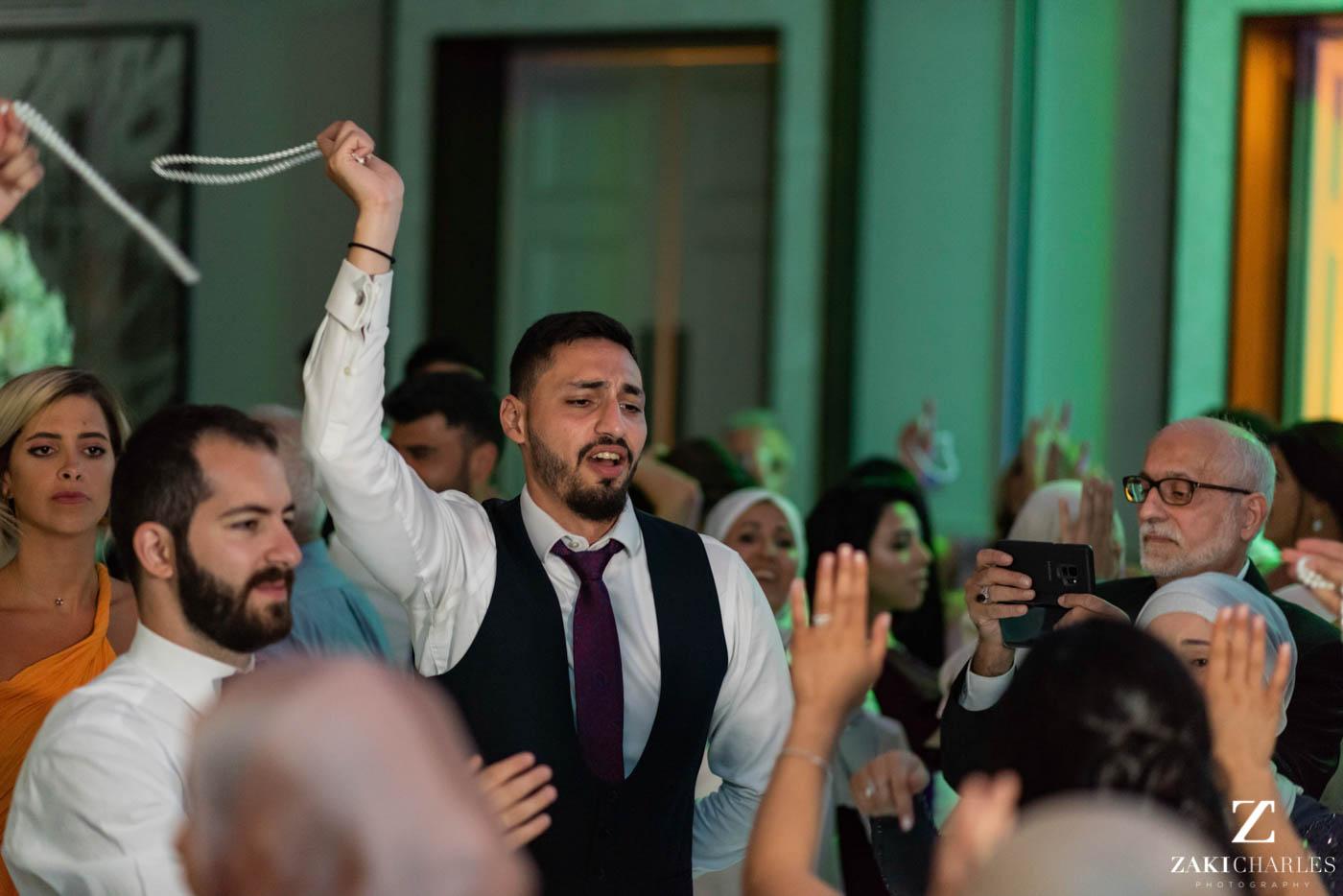 Guests dancing at Marriott Hotel Regents Park Wedding Venue 5