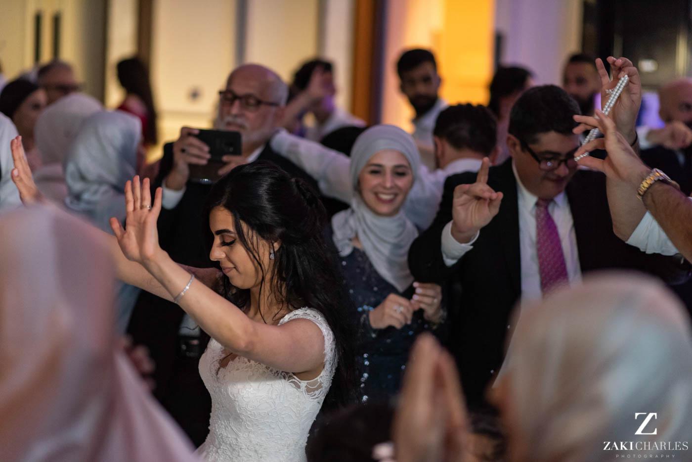 Guests dancing at Marriott Hotel Regents Park Wedding Venue 6