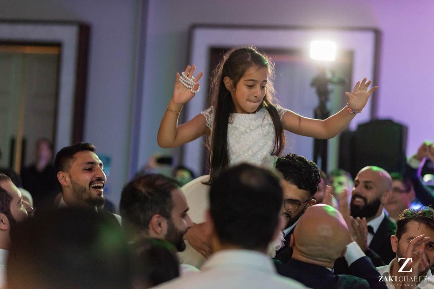 Guests dancing at Marriott Hotel Regents Park Wedding Venue 7