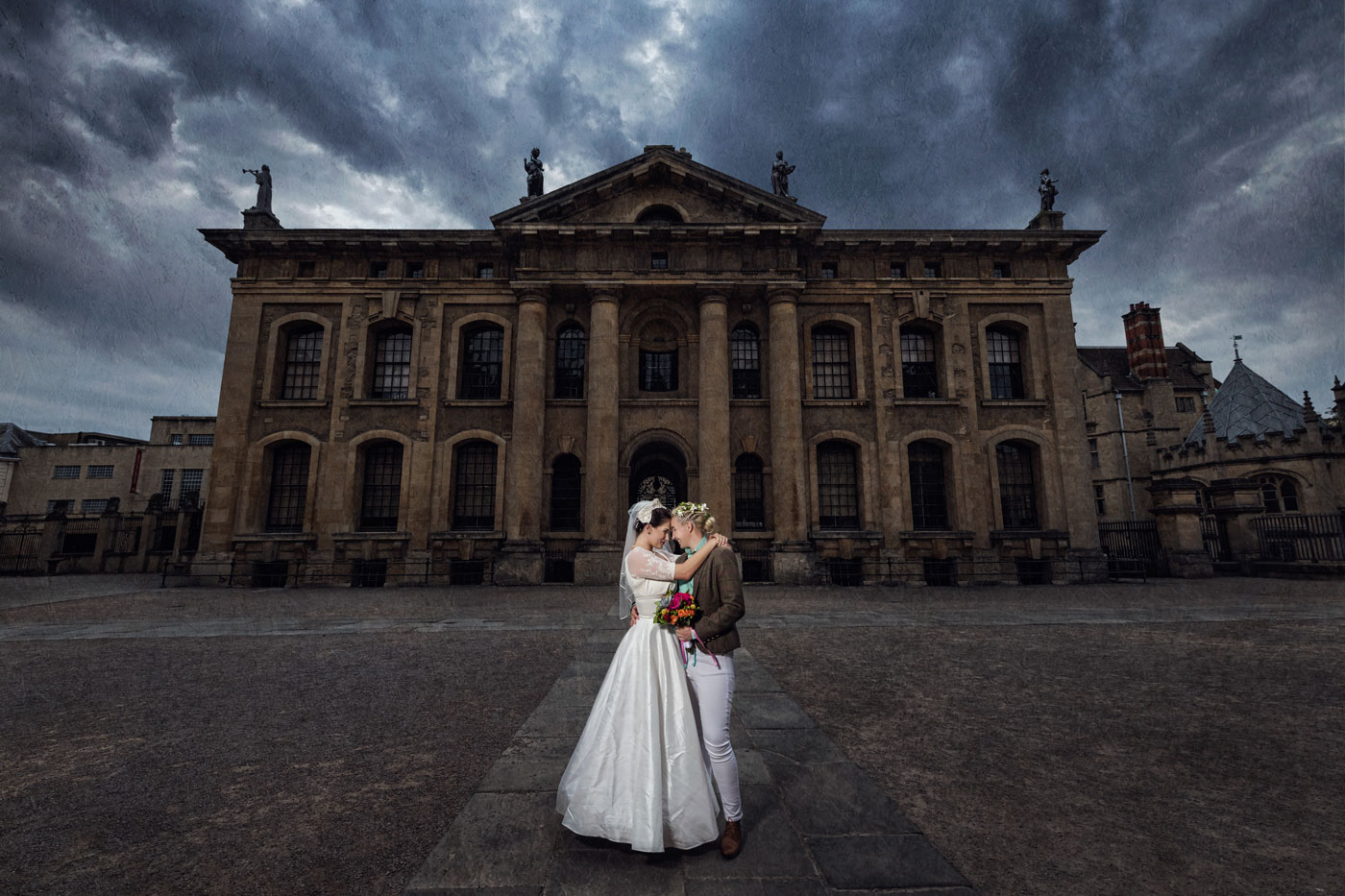Fine art wedding photography at the Bodleian Library