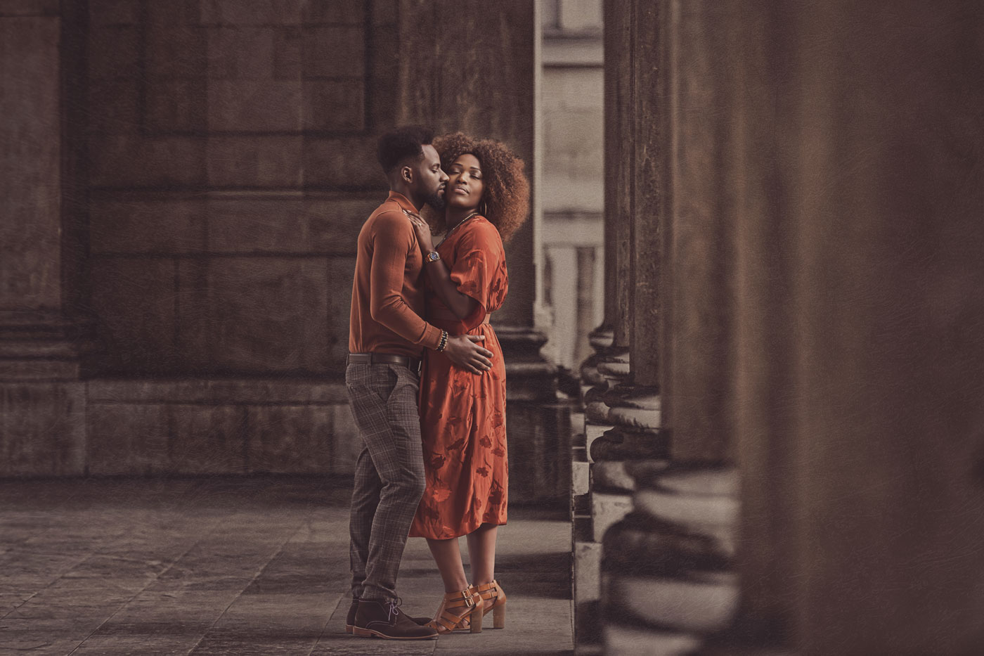 Greenwich Park engagement photoshoot