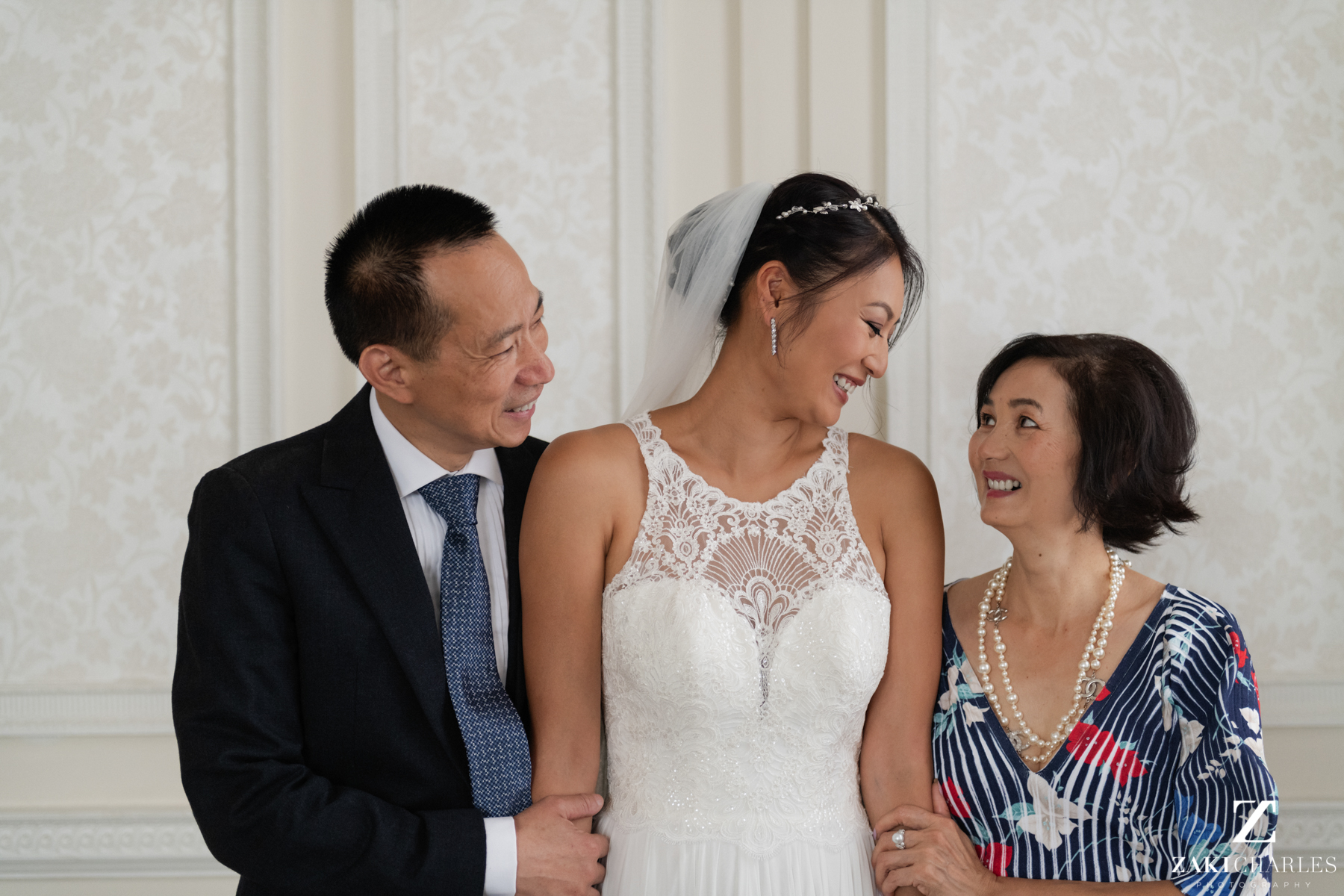First look with brides parents 12