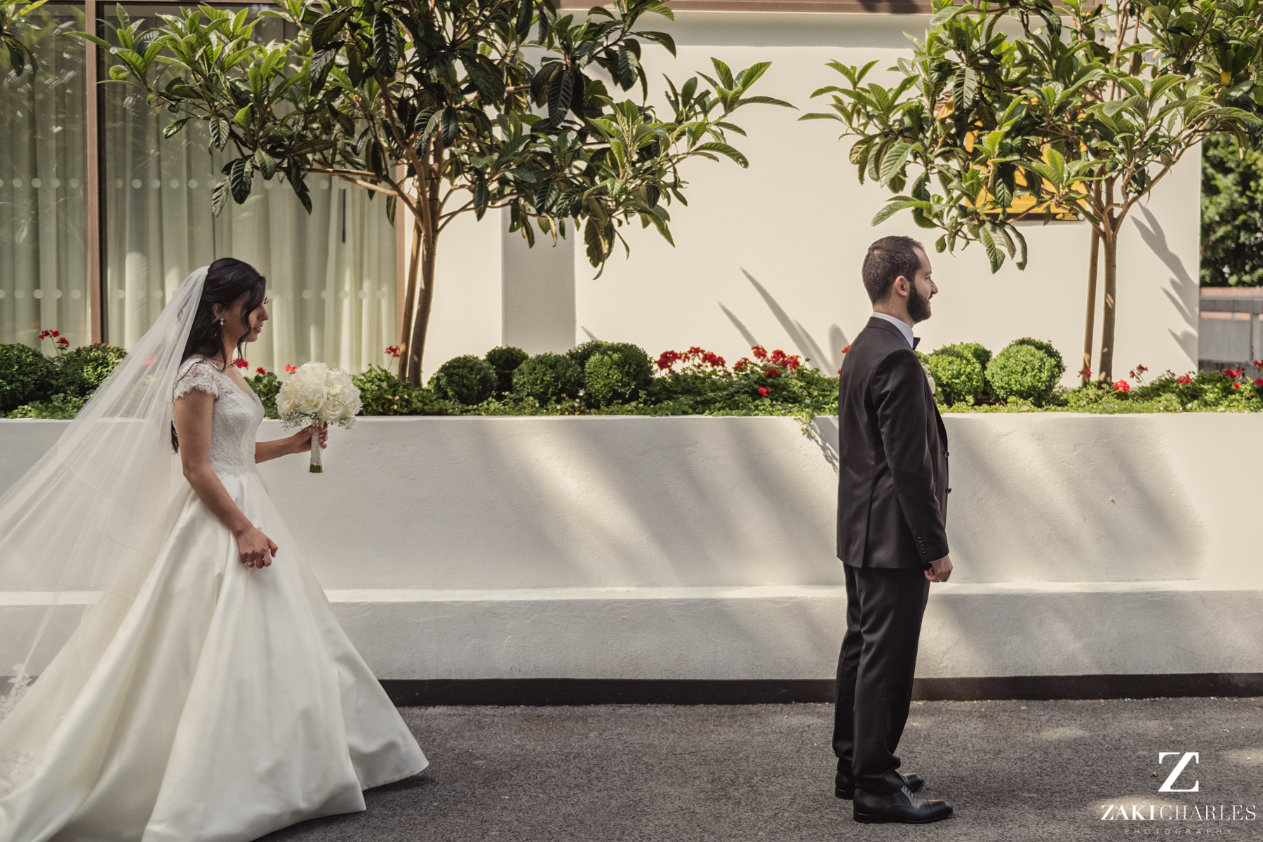 First look between Bride and Groom 4