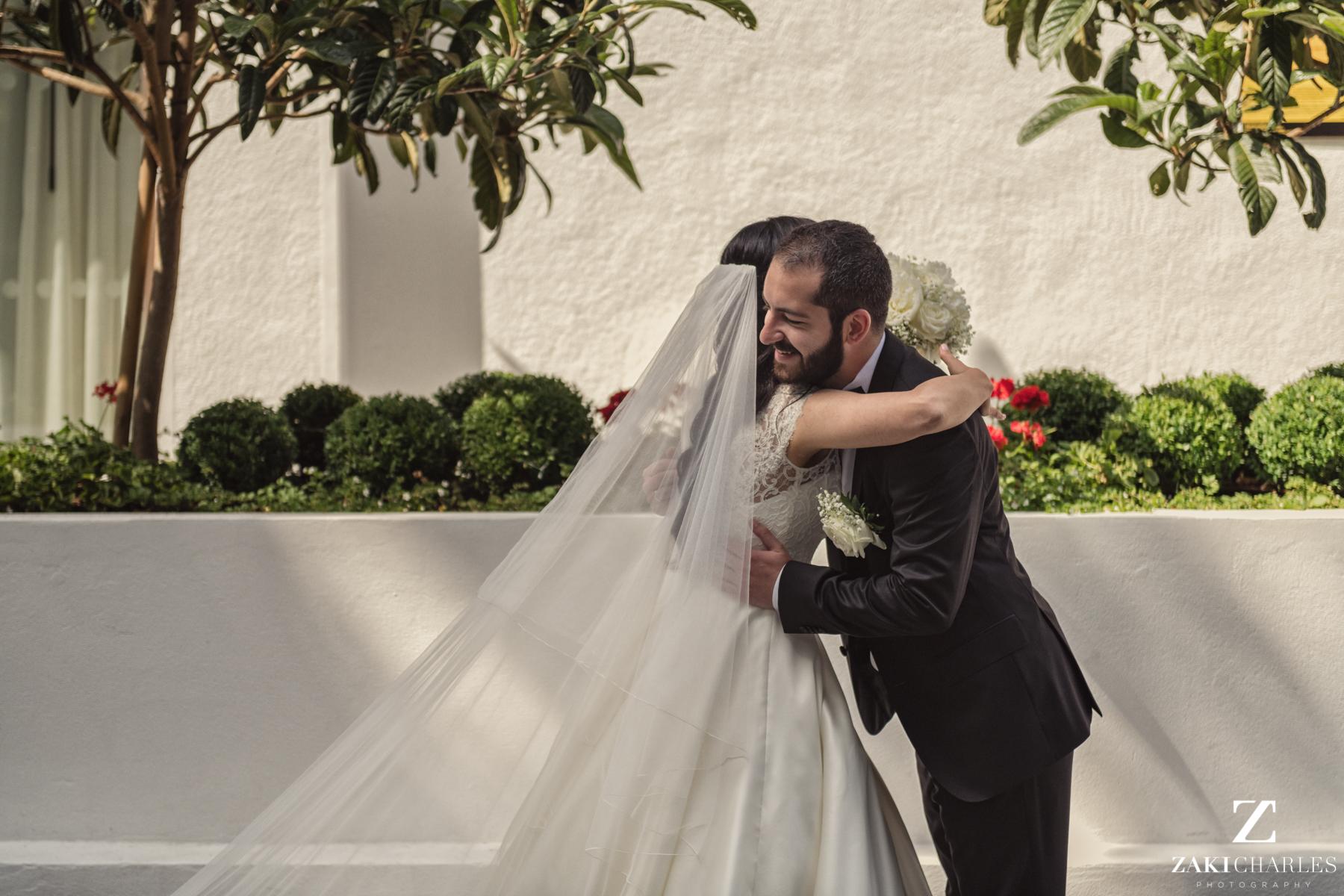 First look between Bride and Groom 7