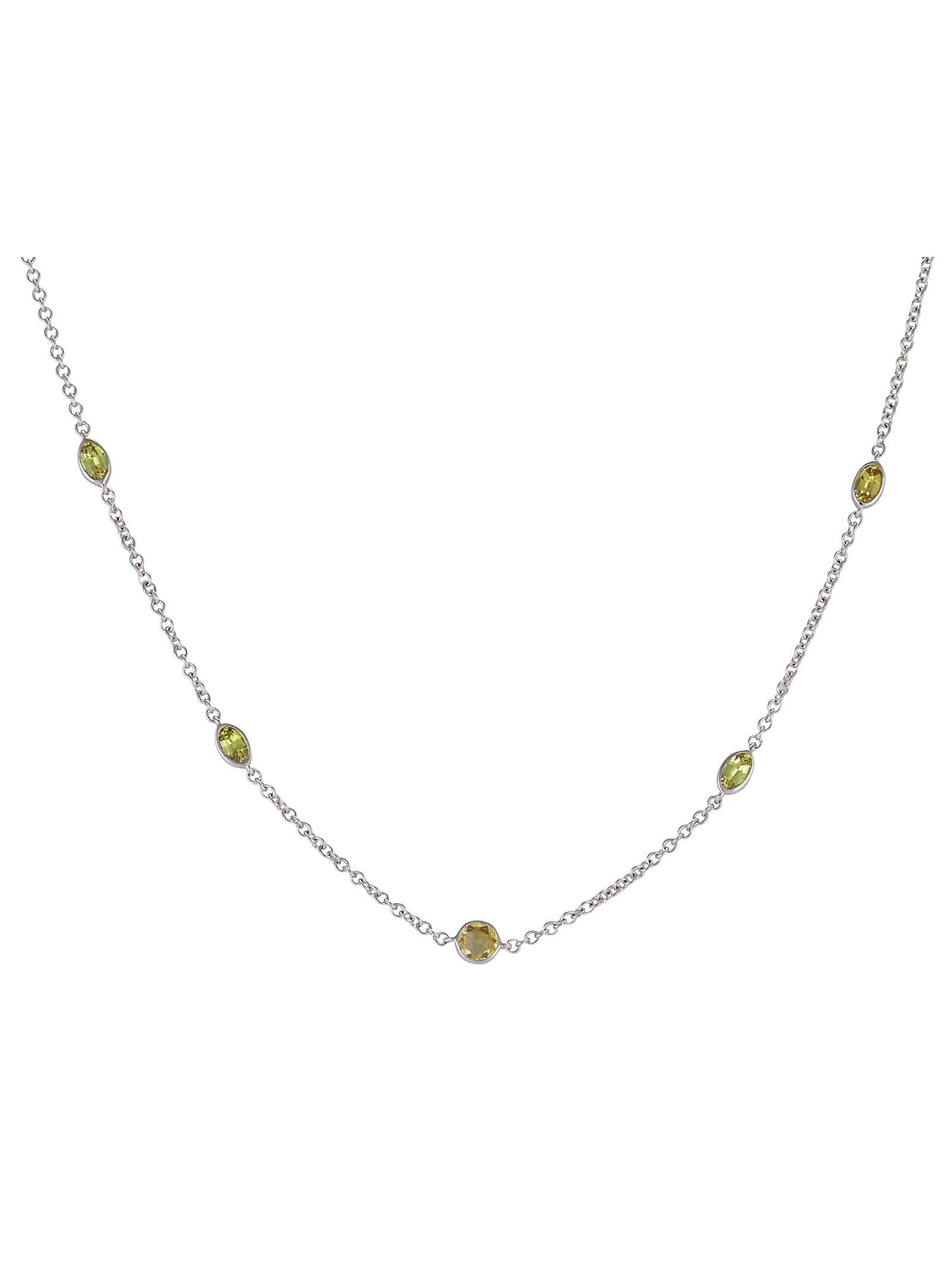 Yellow Sapphire Necklace