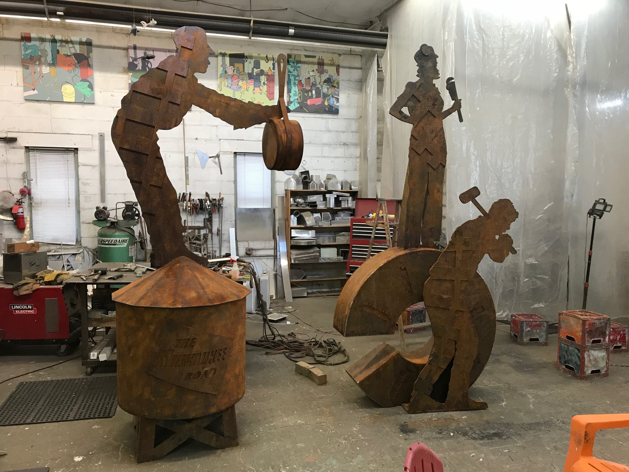 Two of the sculptures have already been built. The community is nearly halfway to the fundraising goal!