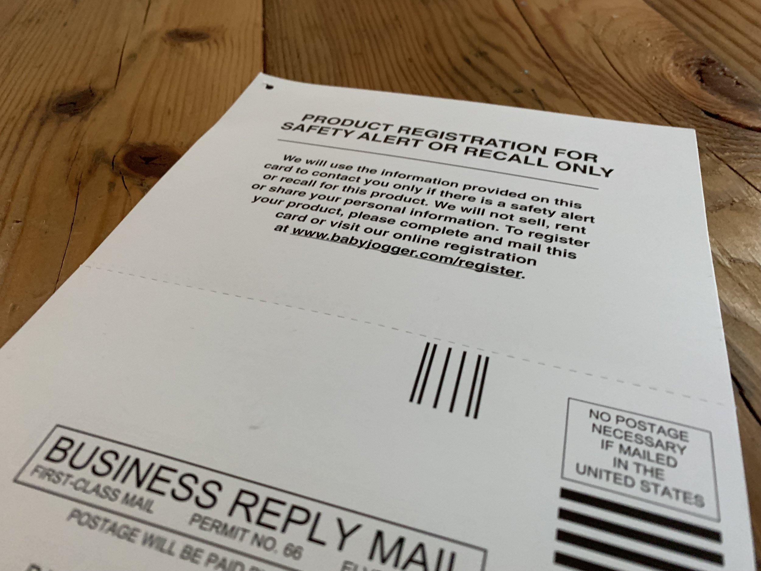 Warranty Registration Card
