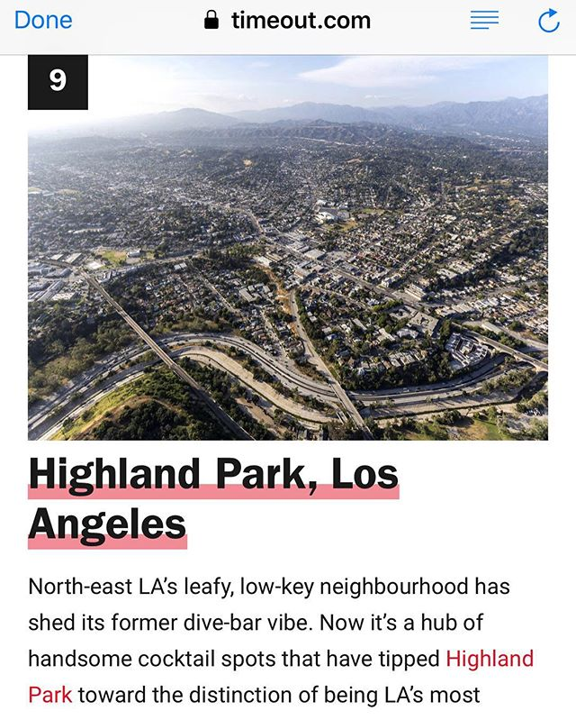 "What an honor to be included in Timeout's article ""The 50 coolest neighbourhoods in the world!"" Thank you @timeoutla! Link in bio to read more. #OtoñoLA"