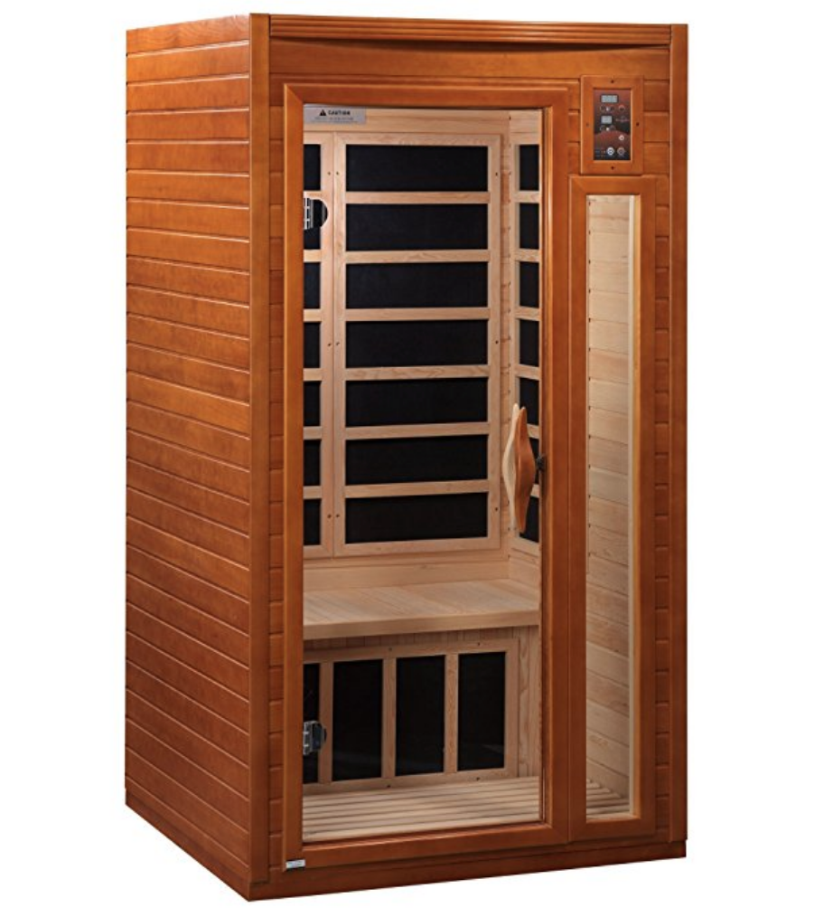 FAR infared sauna - These saunas are helpful for detox, joint pain relief, and especially helpful if you have exercise intolerance. FAR infared saunas boost endorphins and increase heart-rate similar to a workout - all without leaving your home. If you are too fatigued to work out, this is a great way to