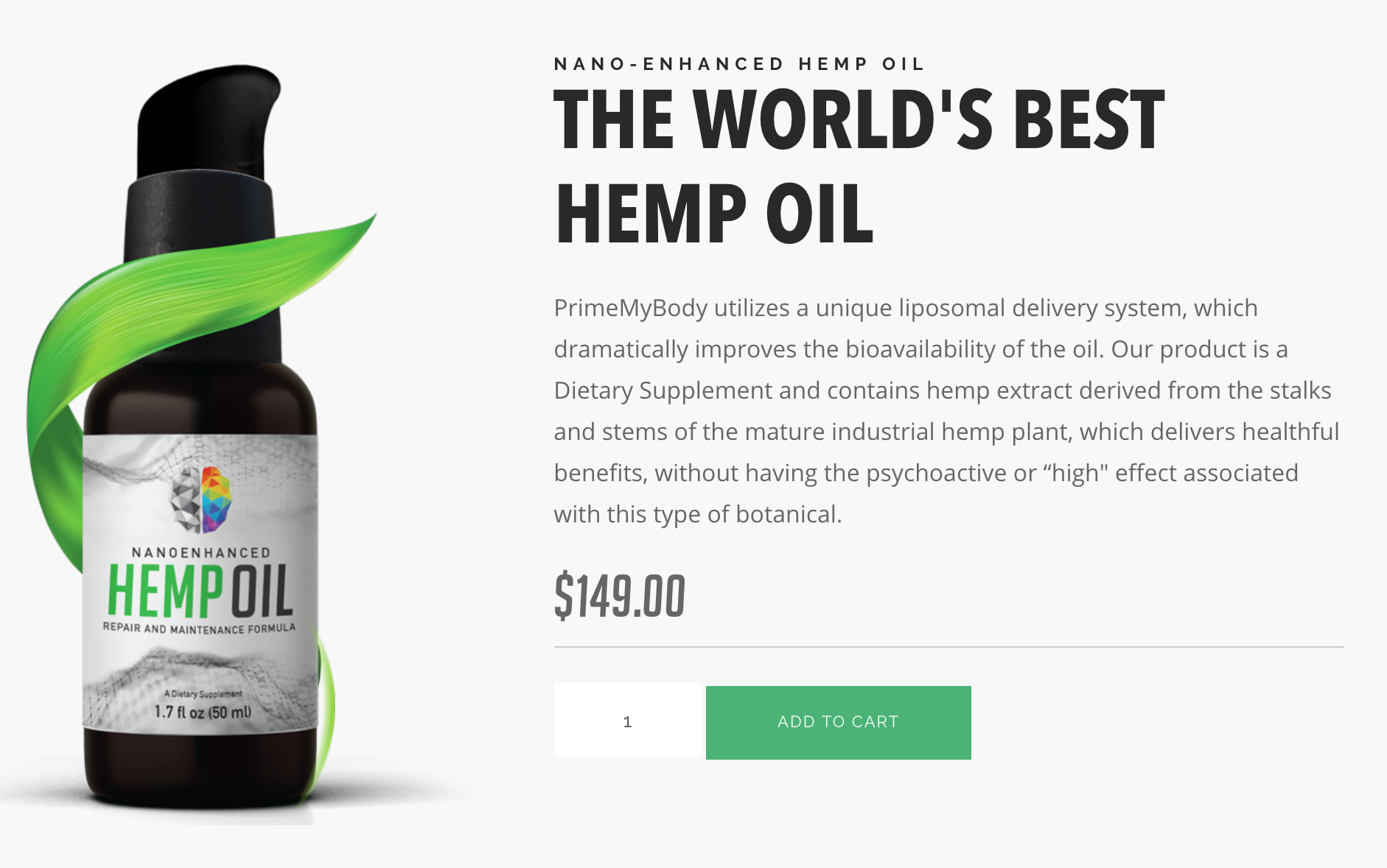 - NEW NanoEnhanced Hemp Oil: I've personally encountered the life-transforming effects of this pain-relieving, anxiety-reducing oil. It's LEGAL in all 50 states. It's time to reclaim your health and get your life back!
