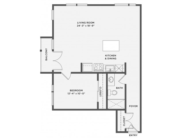 THE EARLE - 1 Bedroom / 1 BathRent: Call for PricingDeposit: 1 Month's RentSq. Feet: Approximately 796