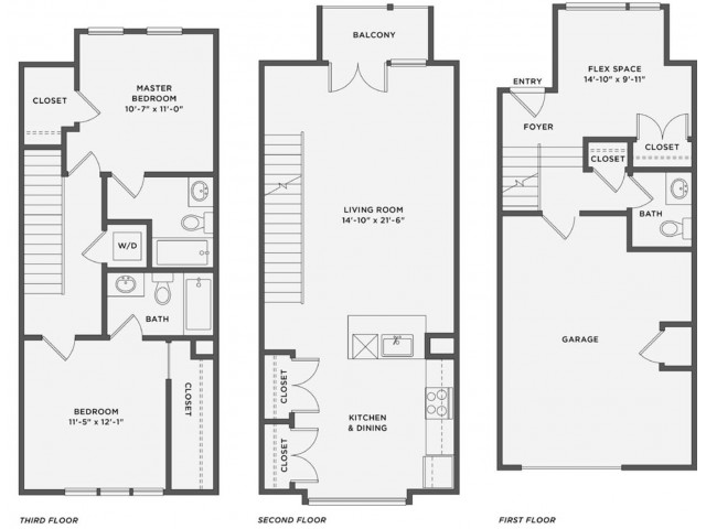 THE SYDNEY - 2 Bedroom / 2.5 BathRent: Call for PricingDeposit: 1 Month's RentSq. Feet: Approximately 1,760 including the garage