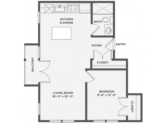 THE BROOKE - 1 Bedroom / 1 BathRent: Call for PricingDeposit: 1 Month's RentSq. Feet: Approximately 615