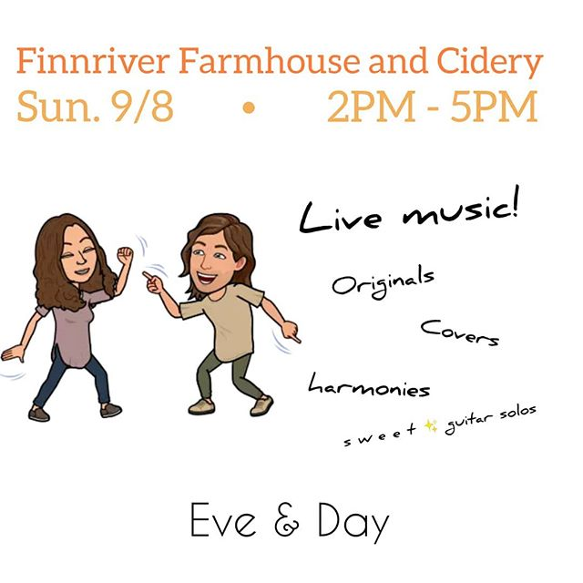 Duo is back to our favorite (shhh, don't tell the others) Cidery this afternoon! If you're kicking it in #chimacum today, you already know this is the spot to spend the afternoon. It's just bonus that we'll be slinging some tunes. . So to all of you in the area, let's get some cider, smell some rain, and kick back Sunday 🤙 . . . #cider #Seattlecider #chimacumgrown #porttownsend #sequim #sundays #farmtotable #chimacumorganic #brews #farmhouse #finnriver