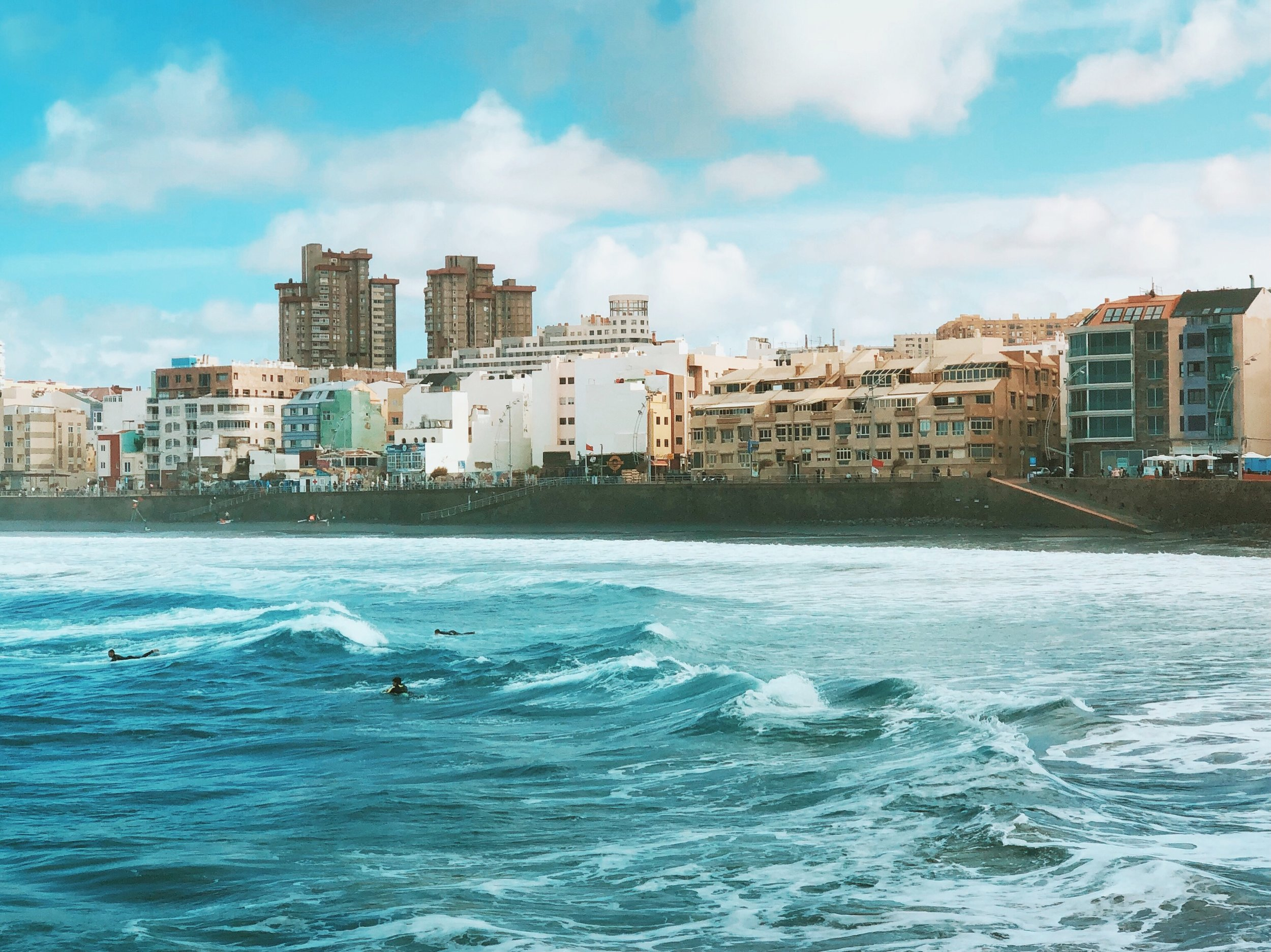 Surf's up - at Las Canteras