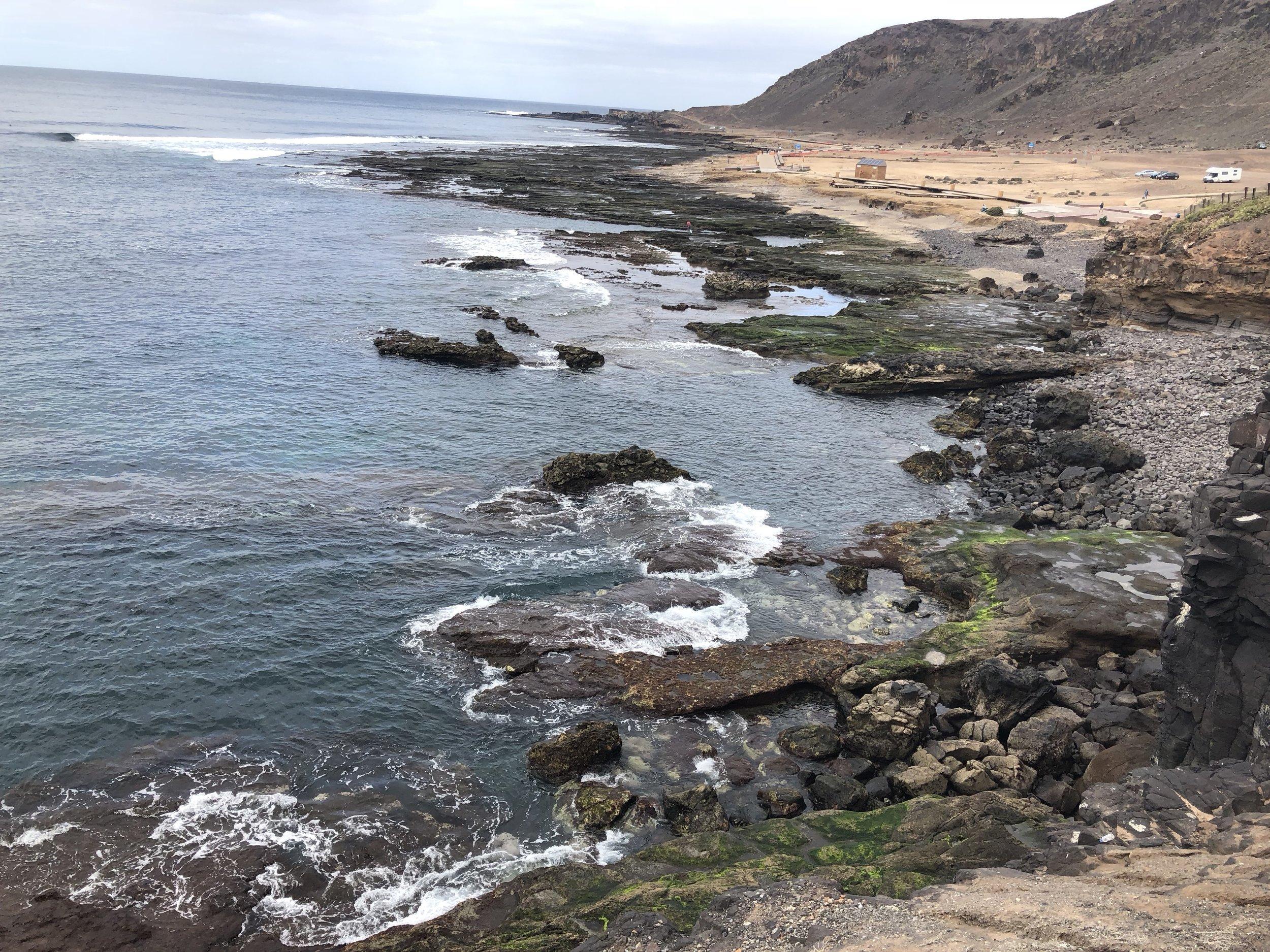 El Confital is a secluded beach north of Las Canteras