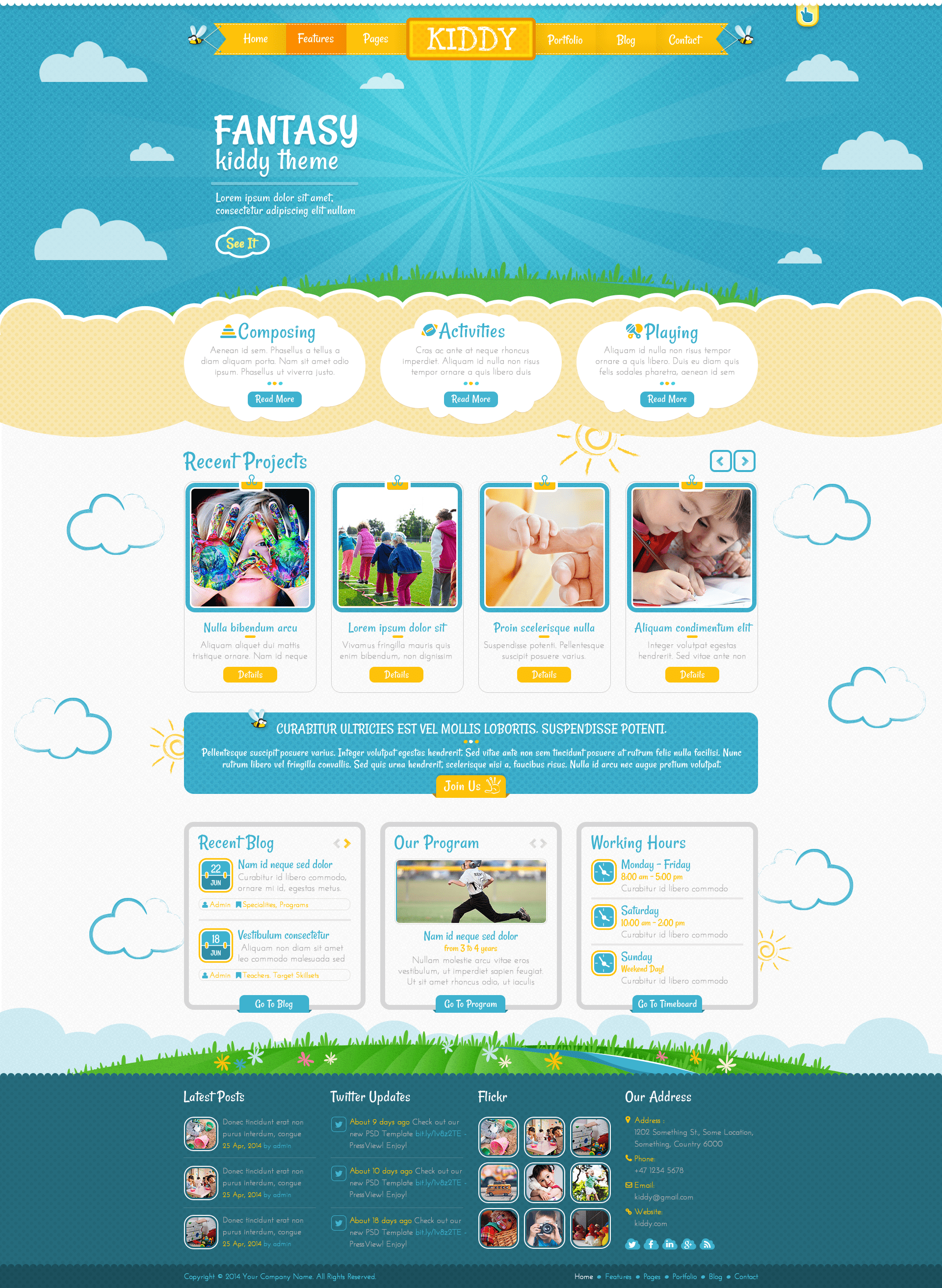 Childcare Web Design Template