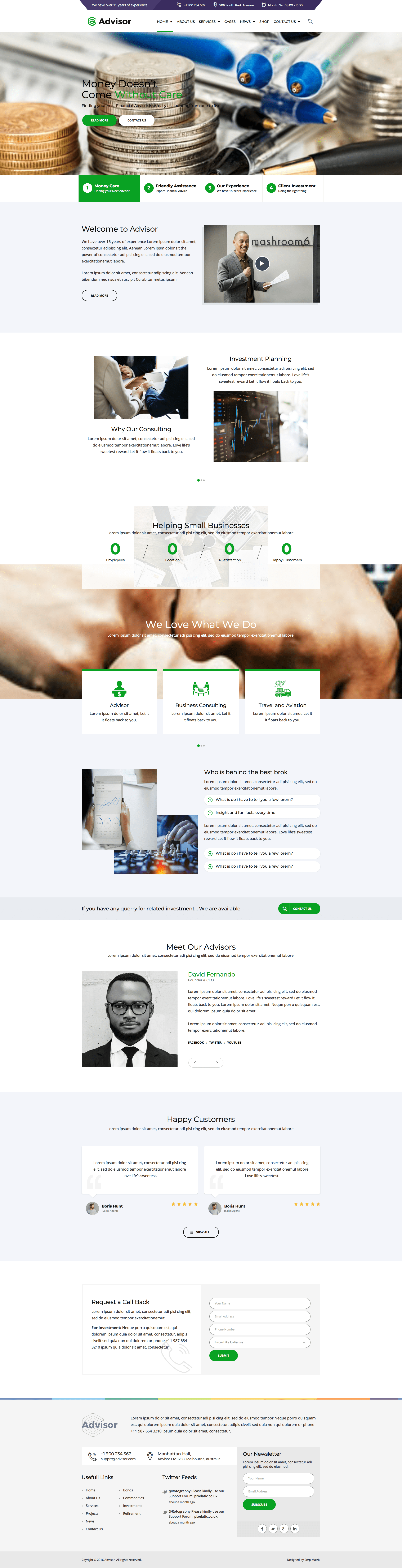 Advisor and Consulting Web Design Template