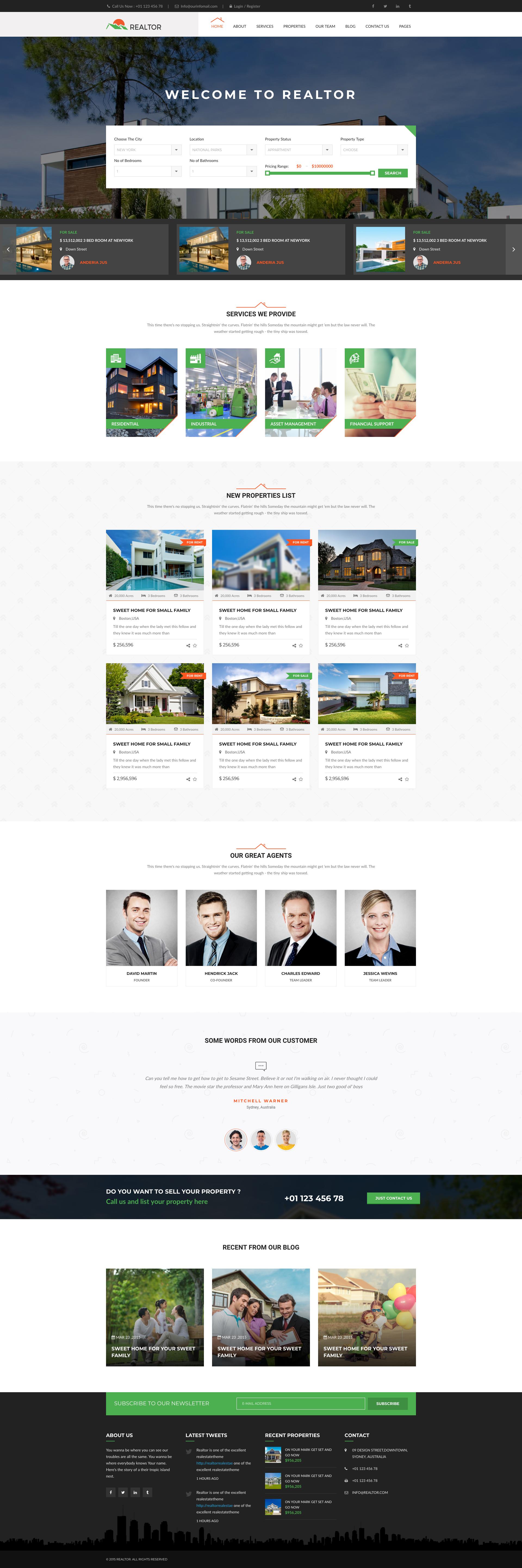 Real Estate Web DesignTemplate