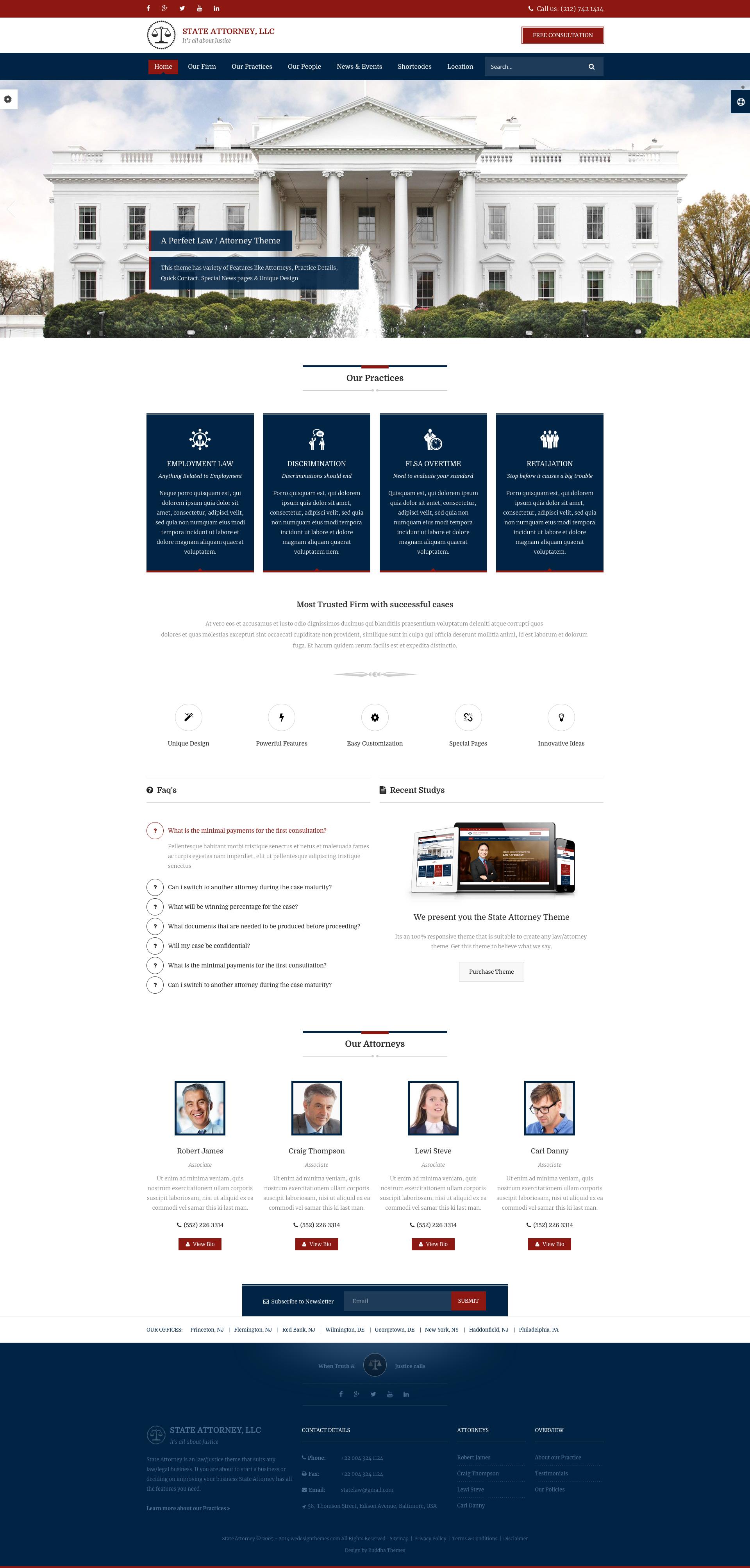 Lawyer Web Design Template