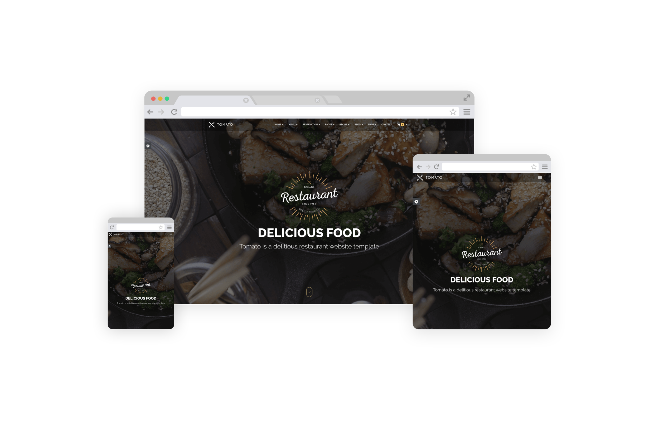 Restaurant Web Design by SERP Matrix