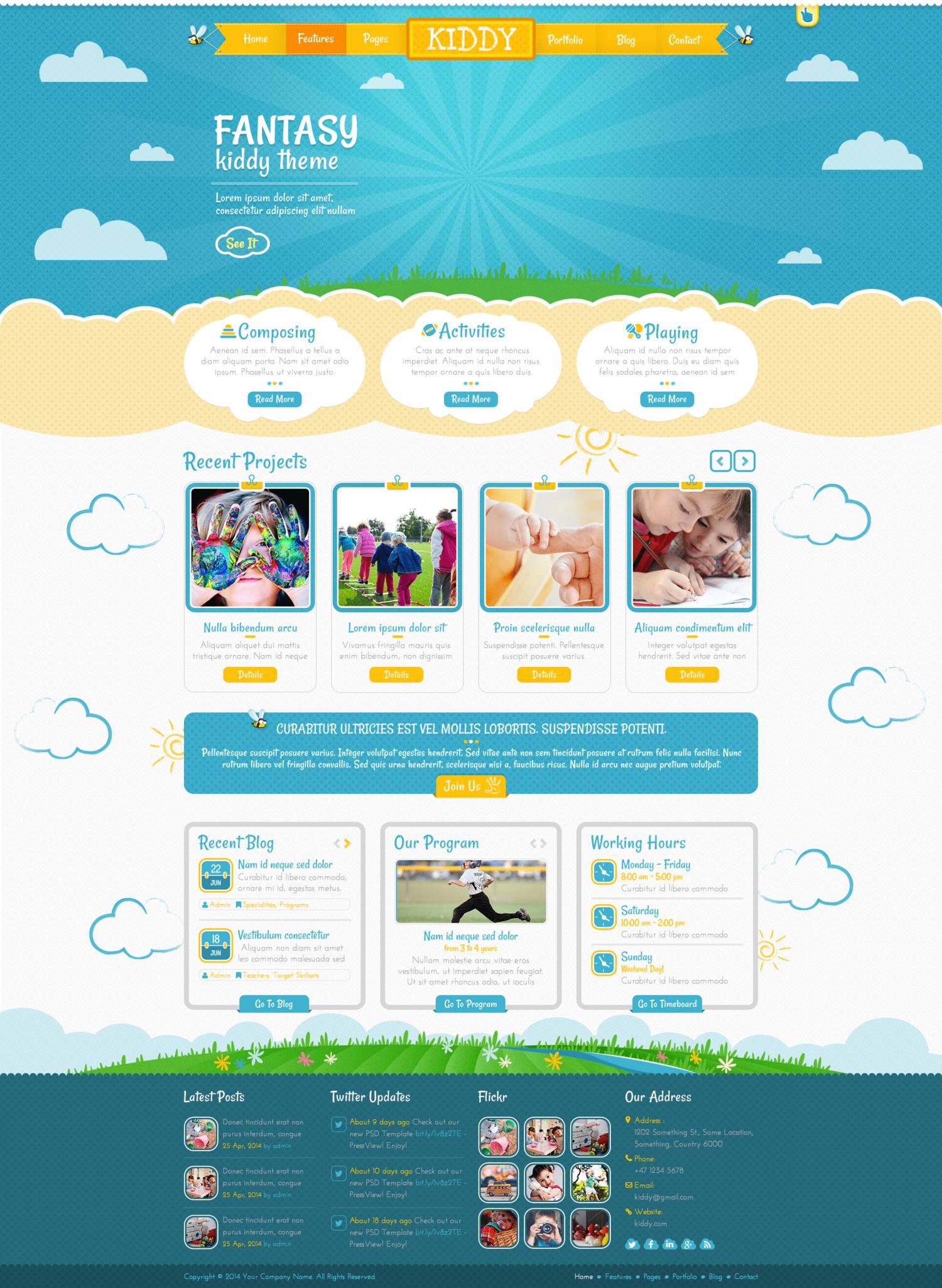 Day Care Web Design Template by SERP Matrix