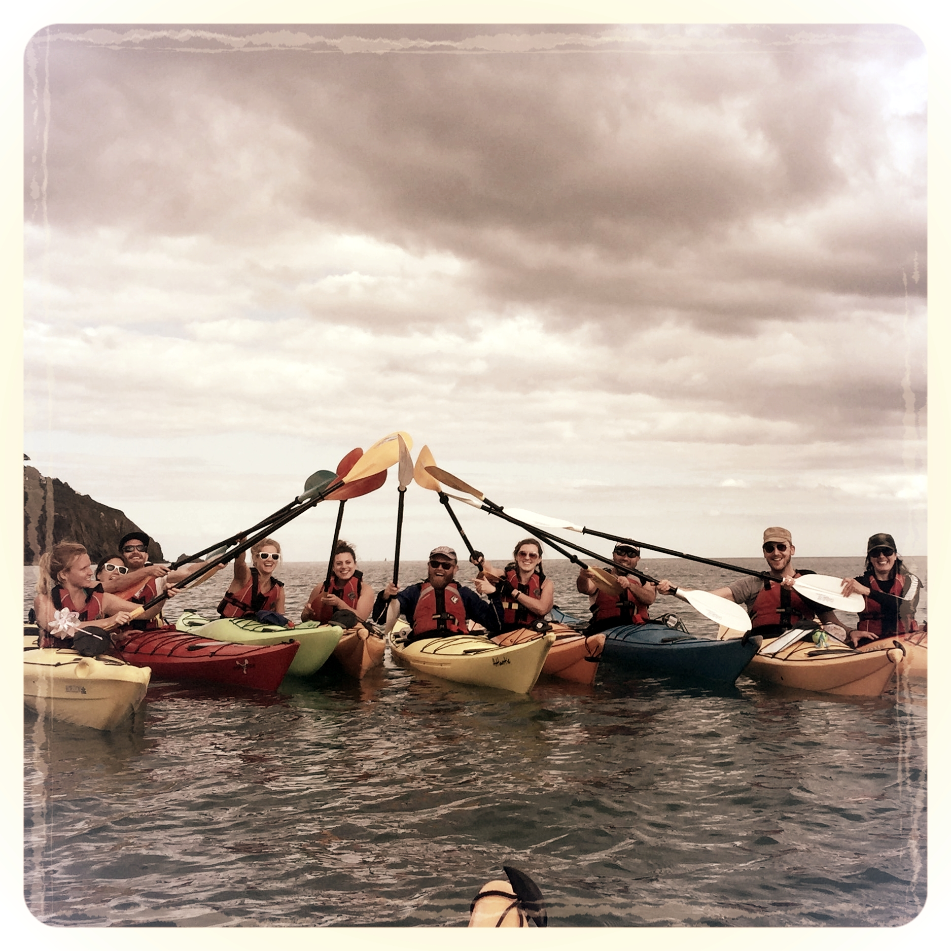 AUGUST: Sea kayak