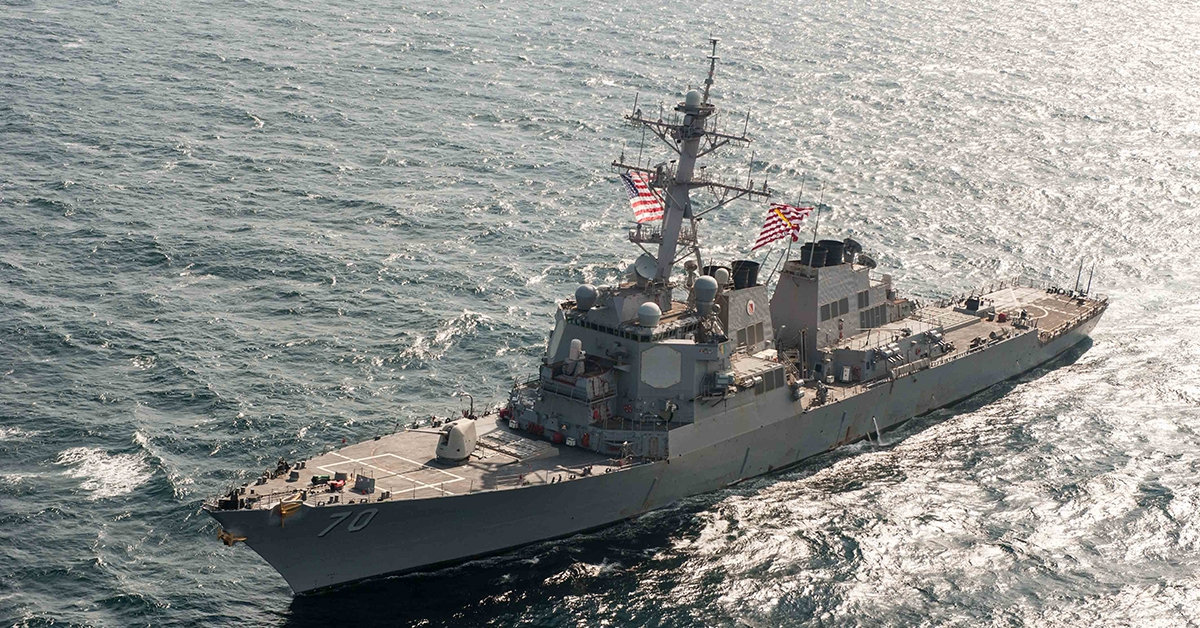 BEIJING — The Chinese government on Saturday accused the U.S. of trespassing in its territorial waters when a U.S. guided missile destroyer sailed near a disputed shoal in the South China Sea.  For full story, click  HERE .  Source: Navy Times