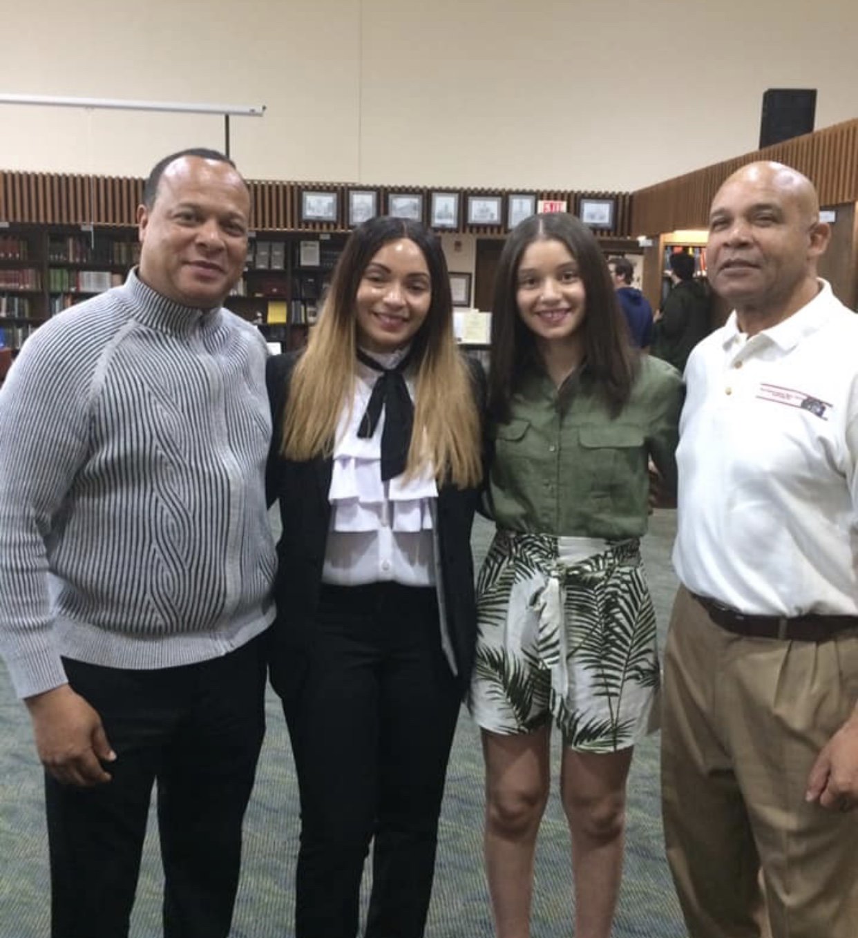 Dr. Mo with her Uncle, Ralph Miller, daughter Araceli, and Director of the WV Center for African-American Art & Culture. May 11, 2019.
