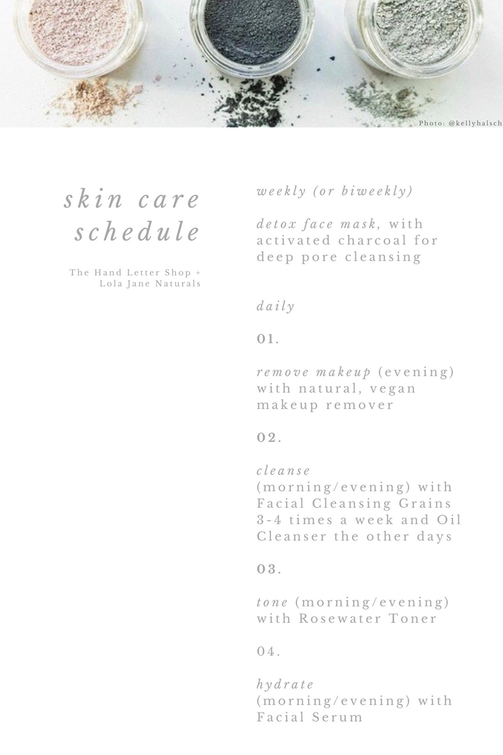 Wedding Day Skin Care Schedule.png