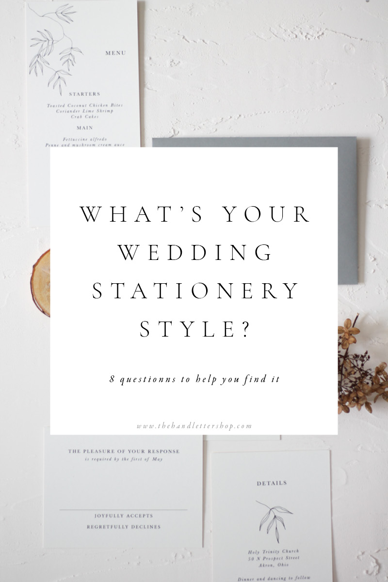 Wedding stationery style quiz and wedding planning tips from #thehandlettershop