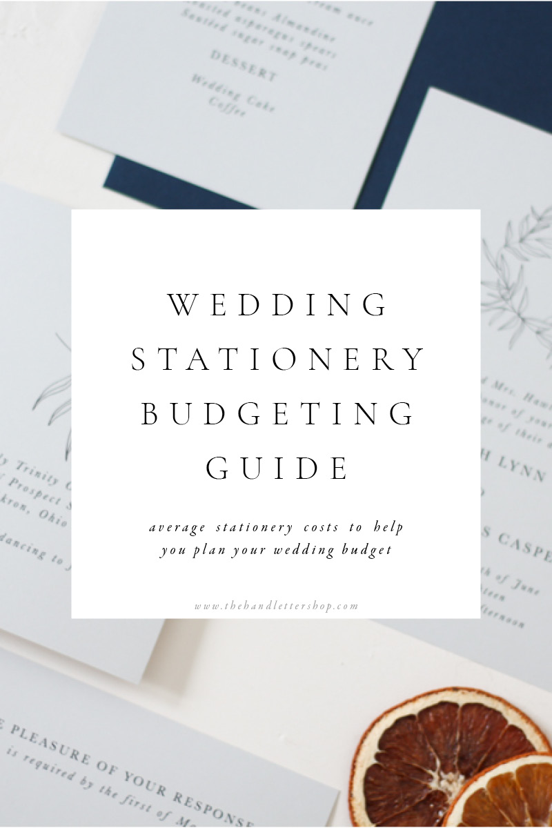Wedding budgeting for invitations and wedding planning tips from #thehandlettershop