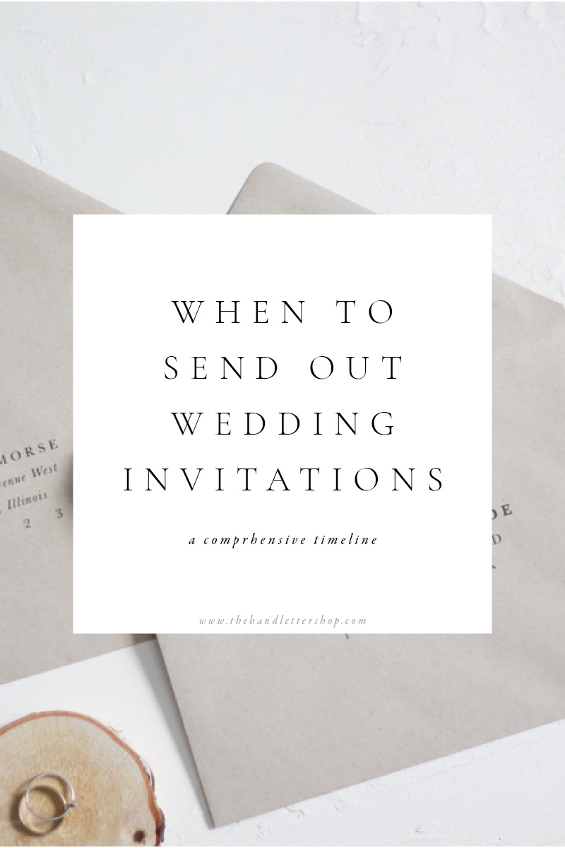 Invitation timeline and wedding planning tips from #thehandlettershop